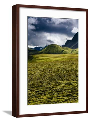 The Lower Lava Drainages In The Rhyolite Hills Of Landmannalaugar National Park In Iceland-Jay Goodrich-Framed Art Print