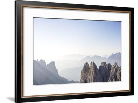 "Tre Cime Di Lavaredo (Drei Zinnen), Sexten Dolomites, Italy: The Via Ferrata ""Paternkofel"" Morning-Axel Brunst-Framed Art Print"