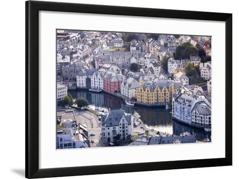 Ålesund, Møre Og Romsdal County, Norway: The Citiy Center Viewed From The Aksla Viewpoint-Axel Brunst-Framed Art Print