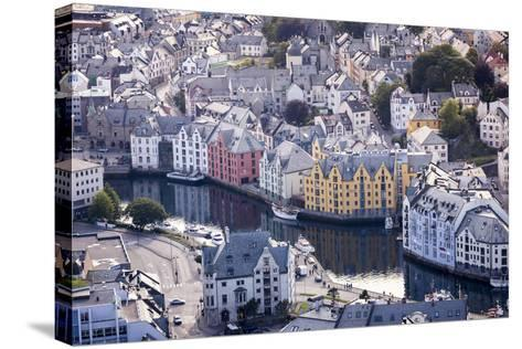 Ålesund, Møre Og Romsdal County, Norway: The Citiy Center Viewed From The Aksla Viewpoint-Axel Brunst-Stretched Canvas Print