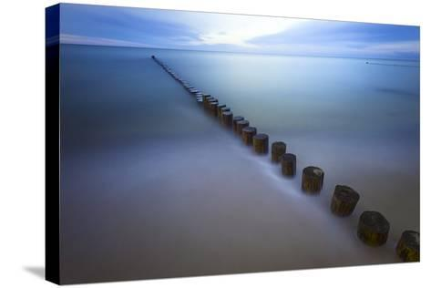 Long Exposure Seascape At The Coast Of The Baltic Sea Near Rerik, Germany-Axel Brunst-Stretched Canvas Print