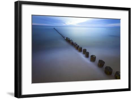Long Exposure Seascape At The Coast Of The Baltic Sea Near Rerik, Germany-Axel Brunst-Framed Art Print