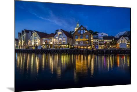 Evening Scene Of The City Of Stavanger, Norway-Karine Aigner-Mounted Photographic Print