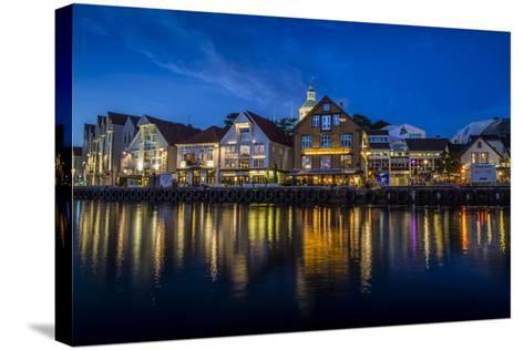 Evening Scene Of The City Of Stavanger, Norway-Karine Aigner-Stretched Canvas Print