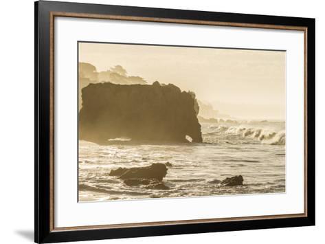 Malibu, California, USA: Famous El Matador Beach In Summer In The Early Morning-Axel Brunst-Framed Art Print