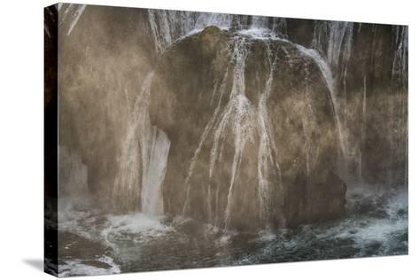 Štrba?ki Buk, Una NP. Štrba?ki Buk Waterfalls Una River, Borders Bosnia, Herzegovina & Croatia-Karine Aigner-Stretched Canvas Print
