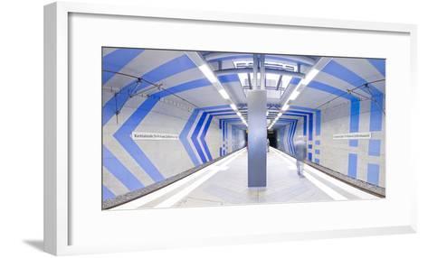 Subway Station In Stuttgart, Germany-Axel Brunst-Framed Art Print