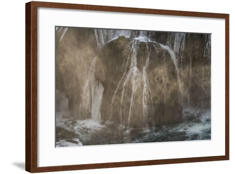 Štrba?ki Buk, Una NP. Štrba?ki Buk Waterfalls Una River, Borders Bosnia, Herzegovina & Croatia-Karine Aigner-Framed Art Print