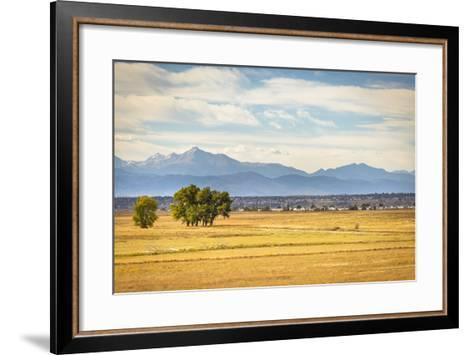 Denver, CO, USA: Landscape Of Rocky Mountain Arsenal National Wildlife Refuge With Rocky Mts Bkgd-Axel Brunst-Framed Art Print