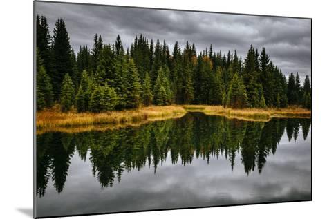 An Autumn Reflection During Clearing Weather In The Tetons Near Jackson, Wyoming-Jay Goodrich-Mounted Photographic Print