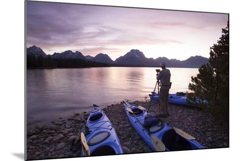 Sea Kayaking Jackson Lake In Grand Teton National Park, WY-Justin Bailie-Mounted Photographic Print