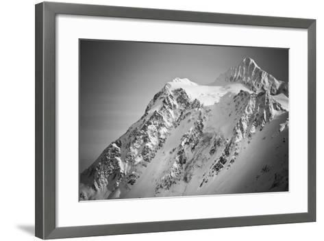Ski Tracks And Clearing On The Shuksan Arm Near Mount Baker Ski Area Washington-Jay Goodrich-Framed Art Print