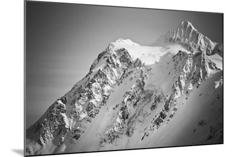 Ski Tracks And Clearing On The Shuksan Arm Near Mount Baker Ski Area Washington-Jay Goodrich-Mounted Photographic Print