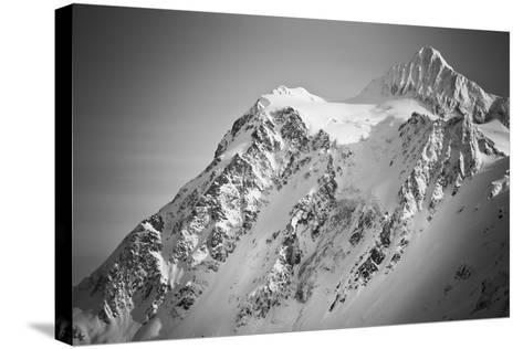 Ski Tracks And Clearing On The Shuksan Arm Near Mount Baker Ski Area Washington-Jay Goodrich-Stretched Canvas Print