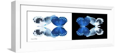 Miss Butterfly Duo Memhowqua Pan - X-Ray B&W Edition-Philippe Hugonnard-Framed Art Print
