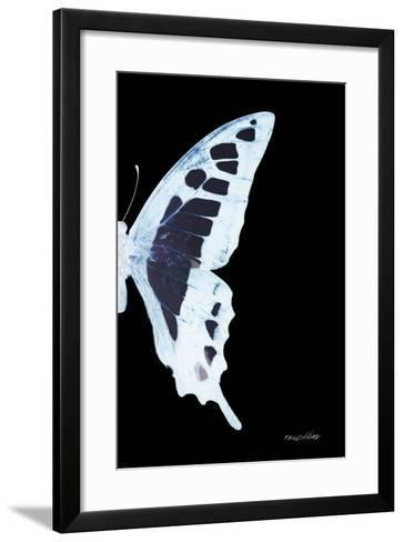 Miss Butterfly Cloanthus - X-Ray Right Black Edition-Philippe Hugonnard-Framed Art Print