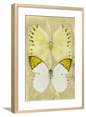 Miss Butterfly Duo Formoia II - Yellow-Philippe Hugonnard-Framed Art Print