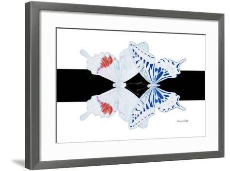Miss Butterfly Duo Parisuthus - X-Ray B&W Edition-Philippe Hugonnard-Framed Art Print