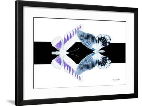 Miss Butterfly Duo Brookagenor - X-Ray B&W Edition-Philippe Hugonnard-Framed Art Print