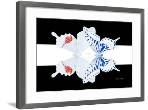 Miss Butterfly Duo Parisuthus - X-Ray B&W Edition II-Philippe Hugonnard-Framed Art Print