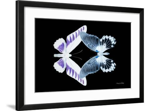 Miss Butterfly Duo Brookagenor - X-Ray Black Edition-Philippe Hugonnard-Framed Art Print