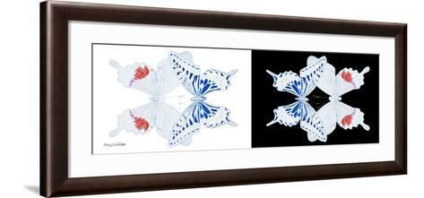 Miss Butterfly Duo Parisuthus Pan - X-Ray B&W Edition-Philippe Hugonnard-Framed Art Print