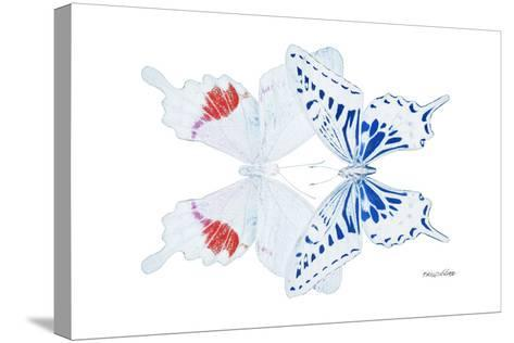 Miss Butterfly Duo Parisuthus - X-Ray White Edition-Philippe Hugonnard-Stretched Canvas Print