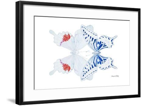 Miss Butterfly Duo Parisuthus - X-Ray White Edition-Philippe Hugonnard-Framed Art Print