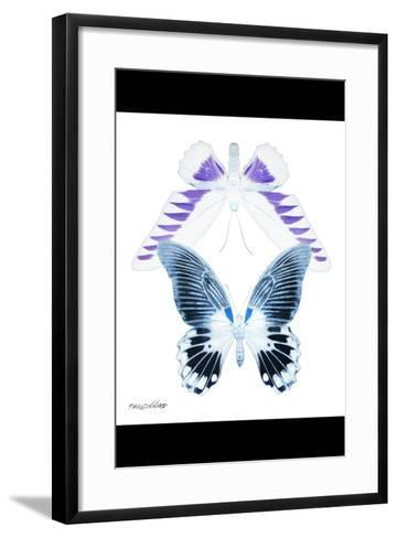 Miss Butterfly Duo Brookagenor II - X-Ray B&W Edition-Philippe Hugonnard-Framed Art Print