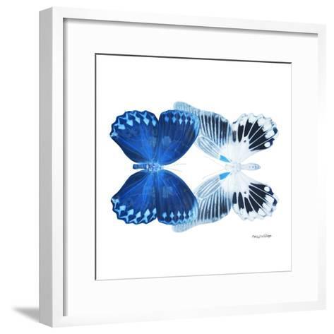 Miss Butterfly Duo Memhowqua Sq - X-Ray White Edition-Philippe Hugonnard-Framed Art Print