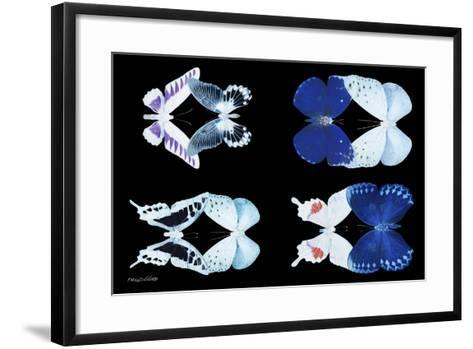Miss Butterfly X-Ray Duo Black-Philippe Hugonnard-Framed Art Print