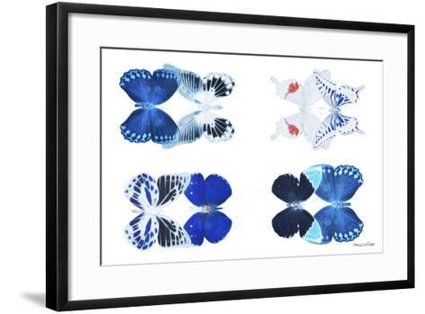 Miss Butterfly X-Ray Duo White III-Philippe Hugonnard-Framed Art Print