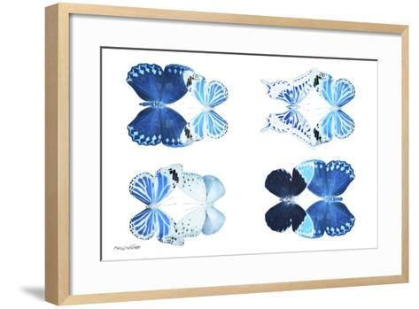 Miss Butterfly X-Ray Duo White IV-Philippe Hugonnard-Framed Art Print
