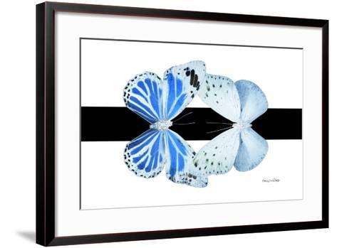 Miss Butterfly Duo Salateuploea - X-Ray B&W Edition-Philippe Hugonnard-Framed Art Print