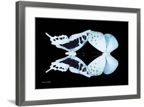 Miss Butterfly Duo Cloanthaea - X-Ray Black Edition-Philippe Hugonnard-Framed Art Print