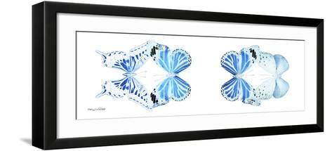 Miss Butterfly X-Ray Duo White Pano VI-Philippe Hugonnard-Framed Art Print