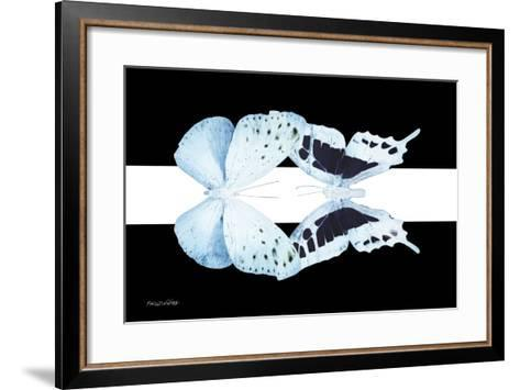 Miss Butterfly Duo Euploanthus - X-Ray B&W Edition II-Philippe Hugonnard-Framed Art Print