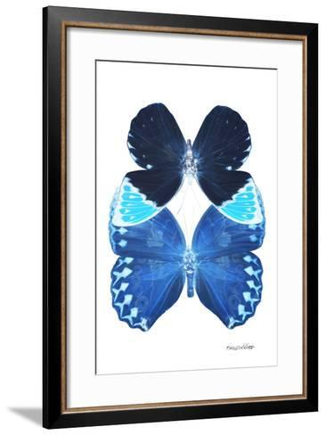 Miss Butterfly Duo Heboformo II - X-Ray White Edition-Philippe Hugonnard-Framed Art Print