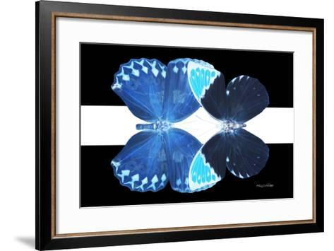 Miss Butterfly Duo Heboformo - X-Ray B&W Edition II-Philippe Hugonnard-Framed Art Print