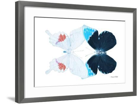 Miss Butterfly Duo Hermosana - X-Ray White Edition-Philippe Hugonnard-Framed Art Print