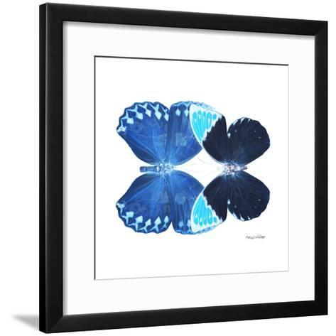 Miss Butterfly Duo Heboformo Sq - X-Ray White Edition-Philippe Hugonnard-Framed Art Print