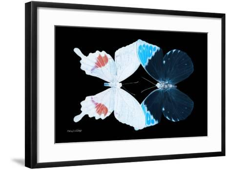 Miss Butterfly Duo Hermosana - X-Ray Black Edition-Philippe Hugonnard-Framed Art Print