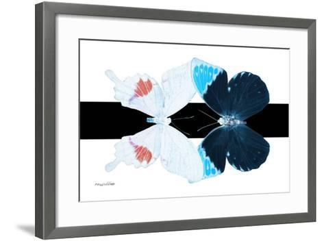 Miss Butterfly Duo Hermosana - X-Ray B&W Edition-Philippe Hugonnard-Framed Art Print