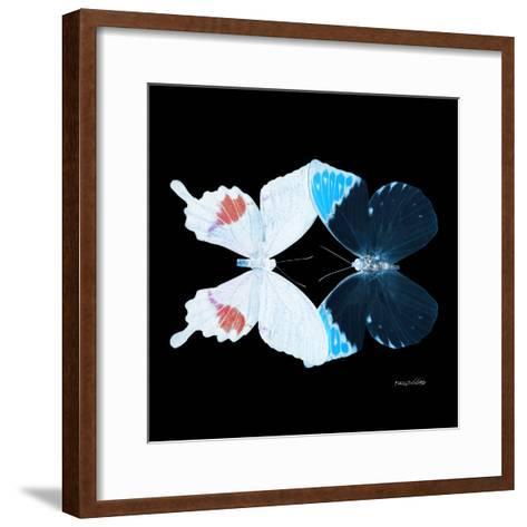 Miss Butterfly Duo Hermosana Sq - X-Ray Black Edition-Philippe Hugonnard-Framed Art Print