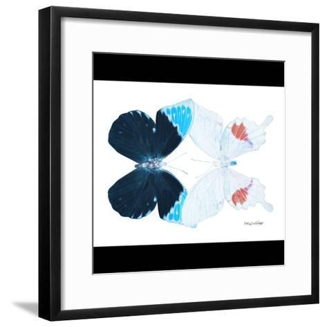 Miss Butterfly Duo Hermosana Sq - X-Ray B&W Edition-Philippe Hugonnard-Framed Art Print