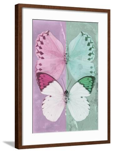Miss Butterfly Duo Formoia - Pink & Coral Green-Philippe Hugonnard-Framed Art Print