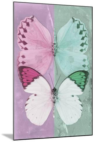 Miss Butterfly Duo Formoia - Pink & Coral Green-Philippe Hugonnard-Mounted Photographic Print