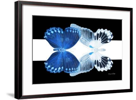 Miss Butterfly Duo Memhowqua - X-Ray B&W Edition II-Philippe Hugonnard-Framed Art Print