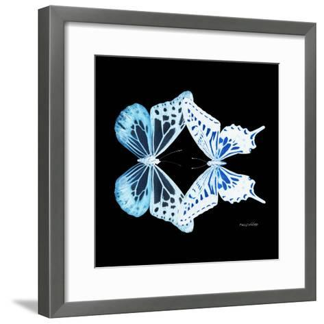 Miss Butterfly Duo Melaxhus Sq - X-Ray Black Edition-Philippe Hugonnard-Framed Art Print