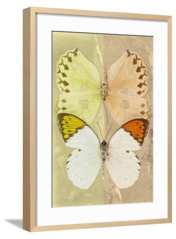Miss Butterfly Duo Formoia - Yellow & Dark Yellow-Philippe Hugonnard-Framed Art Print